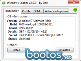 Windows Loader v2.0.3-DAZ
