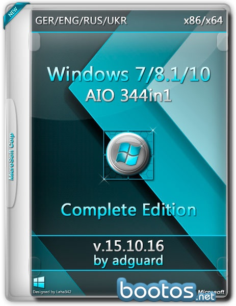 Windows 7-8.1-10 (x86-x64) AIO [344in1] adguard